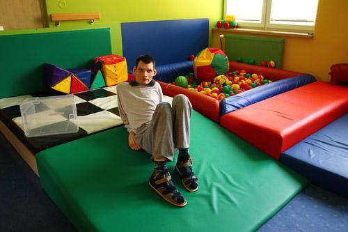 Herní multisensorická místnosť pro klienty s vícenásobným postižením